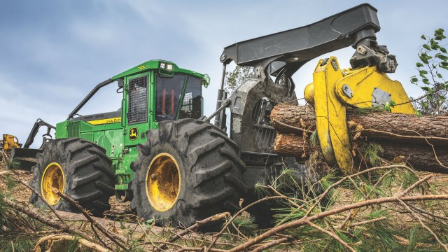 The John Deere L-Series II skidder.