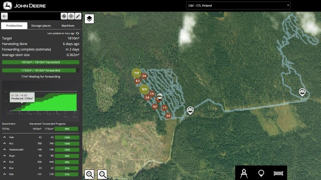 TimberManager software allows users to plan out work and improve efficiency.