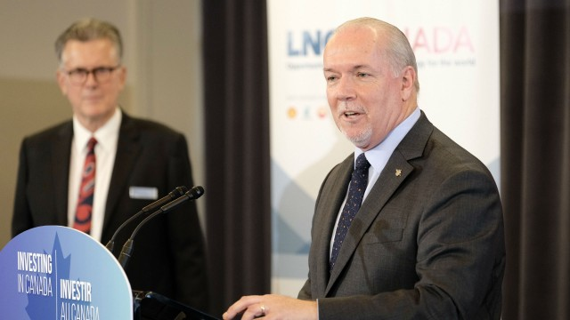 B.C. Premier John Horgan speaks regarding the successful final investment decision on LNG Canada.