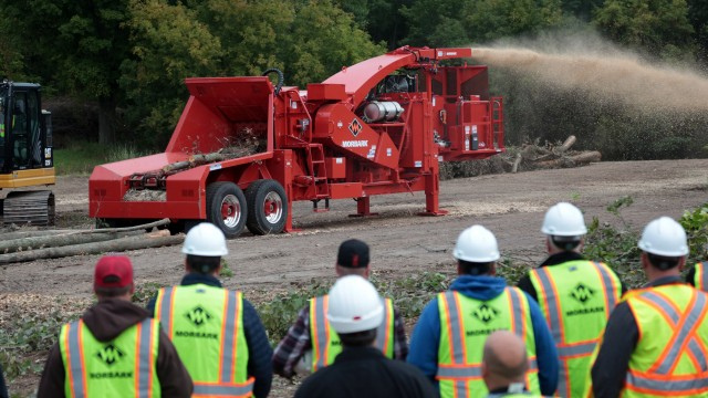 Morbark hosts 12th Demo Days, debuting new 23X Chiparvestor and showing latest grinders and chippers