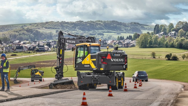 Volvo's EWR150E, EWR170E and EW220E, the latest in Volvo Construction Equipment's wheeled excavator lineup, can now be bought using purchasing cooperatives Sourcewell and HGAC.