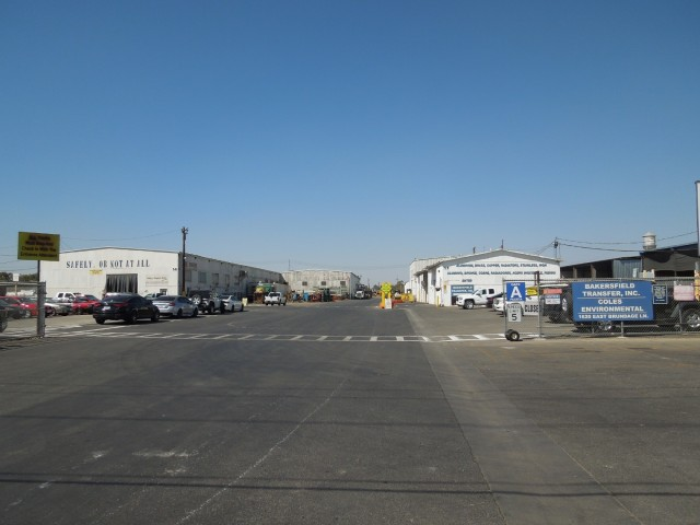 At the entrance to Sierra Recycling and Demolition, Bakersfield, California.