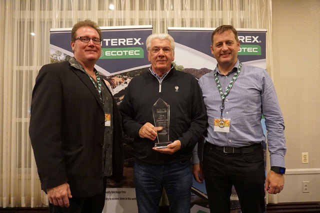 Paul Campbell of Powerscreen of California and Hawaii was presented with the North American Ecotec Dealer of the Year Award.