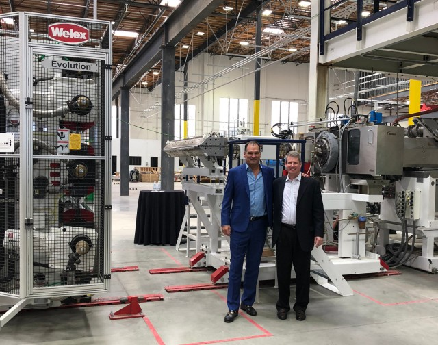 rPlanet Earth Co-CEOs Joseph Ross (left) and Robert Daviduk (right) in the new plant at Vernon, California.