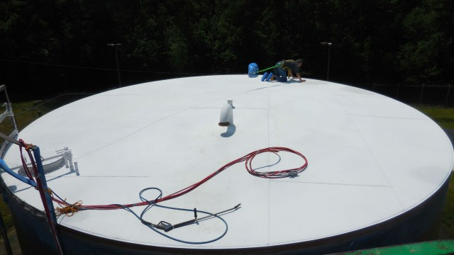 EonCoat can be used on large surfaces like tanks to protect from corrosion issues.