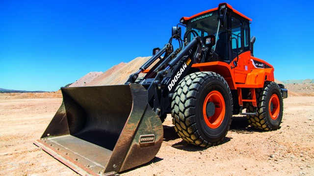 Doosan will display its heavy equipment during  World of Concrete 2019