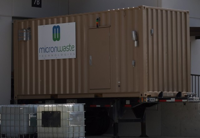 A Cannavore unit at Micron's Delta, BC facility before shipment to Aurora Mountain cannabis cultivation and production facility outside Calgary.