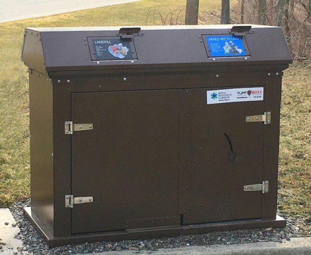 ​TuffBoxx introduces the Camper Dual Stream Waste & Recycling Receptacle