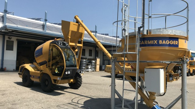 Carmix Bagger speeds up the process of loading mixers and batching plants.