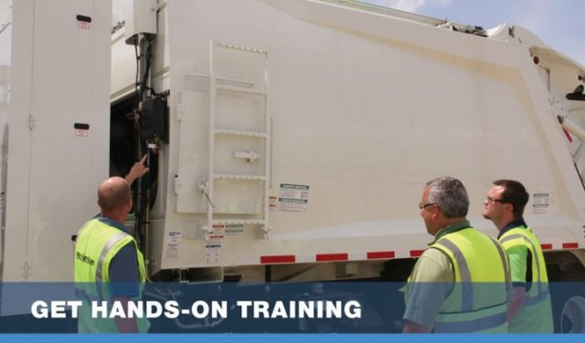 McNeilus offers hands-on training for refuse and recycling collection trucks