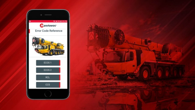The free smartphone app is available for iOS and Android devices, and helps crane operators to interpret diagnostic codes that are generated by on-board control systems.