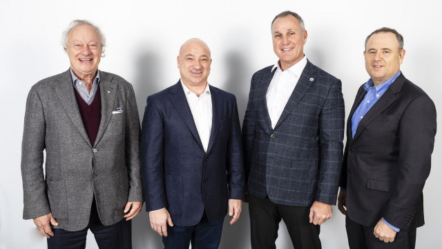 Left to right: Martin Goldfarb, Danny Ardellini, Paul Coffey and Alon Ossip who have launched Environmental 360 Solutions and completed their first acquisition.