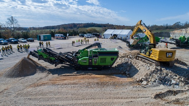 The Cobra 230R impact crusher on display at Evoquip's Open Event November 8.
