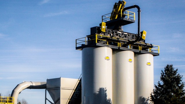 Asphalt Drum Mixers offers crane-set and self-erect asphalt storage silos, which are compatible with both the company's own and similar competitive models of asphalt plants.