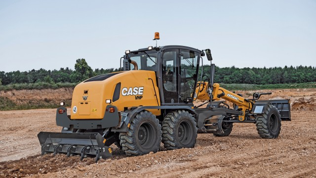 CASE C Series motor graders feature a high-carbon steel moldboard, and new moldboard mount and slide system, with minimized opportunity for play and fewer grease points.