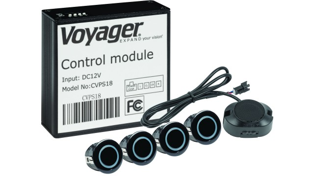 ASA Electronics Voyager proximity sensor system detects objects within five feet of the rear bumper
