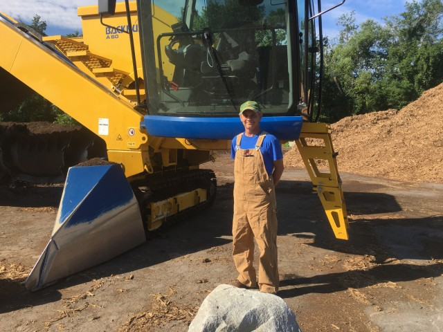 Their new BACKHUS turner allowed the City of Lexington's Kerry Weaver to build windrows toe to toe, so they could easily fit as much compost as needed into their reduced space.