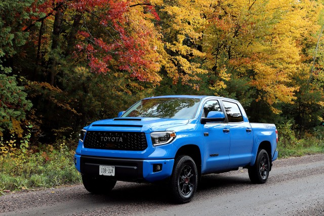 Toyota Tundra is built around the 5.7L i-FORCE V8 for plenty of horsepower and torque