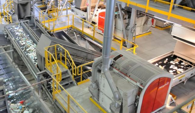 Inside a RedWave paper recycling plant.