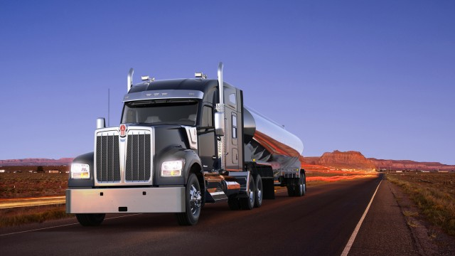 """""""The Kenworth W990's outstanding performance, lifestyle amenities and classical styling truly makes it The Driver's Truck,"""" said Kurt Swihart, Kenworth marketing director."""
