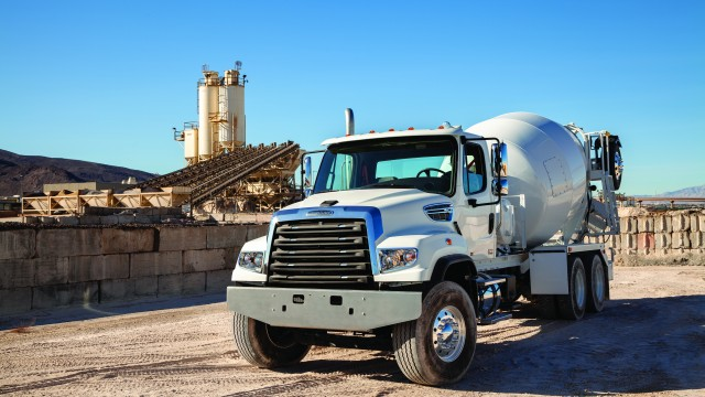 In addition, visitors to the Freightliner booth will gain access to a variety of bodied-up trucks on display, including 114SD concrete pumpers, cement mixers, volumetric cement mixers and more. The Detroit DD8 and DD13 engines will also be on display at the booth.