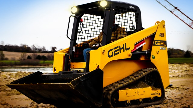 Shown for the first time at World of Concrete, the company says that the Gehl RT105 track loader is a standout as the most compact on the market yet still delivers an impressive rated operating capacity of 1,050 pounds.