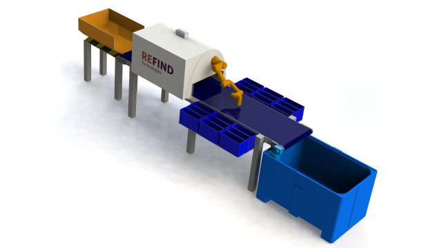 Refind Sorter launched for flexibility in range of materials processing applications
