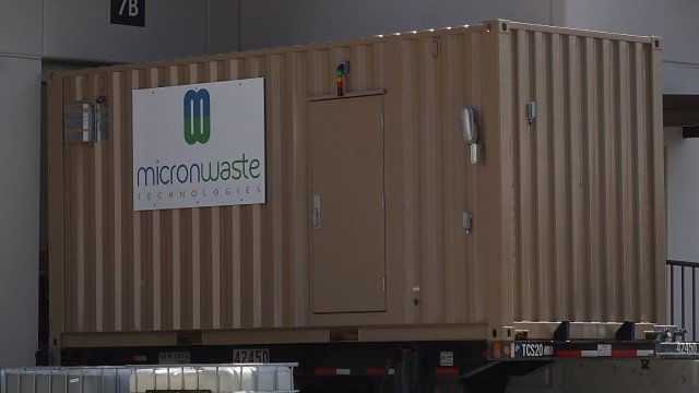 Micron Waste's Cannabis Waste Digester System ready for shipment. (2018.)