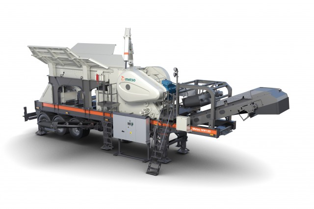 Metso NW120 Rapid jaw crushing unit