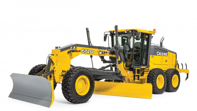 John Deere motor graders include an