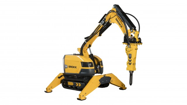 The Brokk 200 is one of four new next generation remote-controlled demolition machines Brokk showcased at World of Concrete 2019 in Las Vegas.