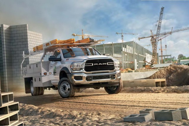 Four trim levels are offered on the 2019 Ram Chassis Cab: Tradesman, SLT, Laramie and the new Limited. Sharing exterior design elements with the 2019 Ram Heavy Duty, the new 2019 Ram Chassis Cab drives the full force of capability with unexpected technology.