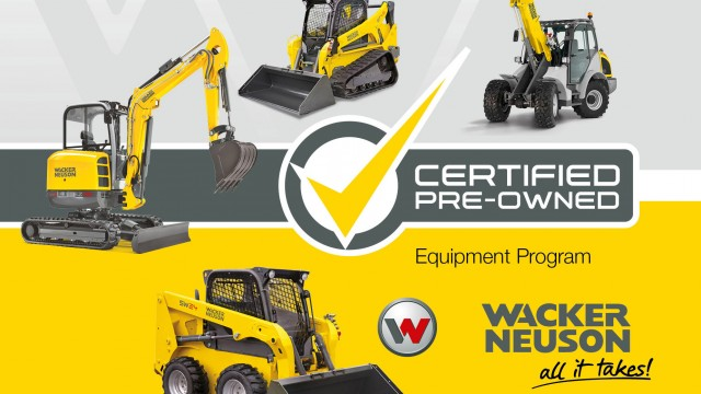 The CPO equipment is inspected and reconditioned by Wacker Neuson certified dealers. As the dealer works through the machine components, they are tested, repaired or replaced as needed to ensure it is in top quality condition and brought up to the latest standards prior to being sold.