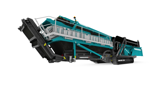 The Chieftain 2200 screen is the first Powerscreen machine with a double deck screenbox.