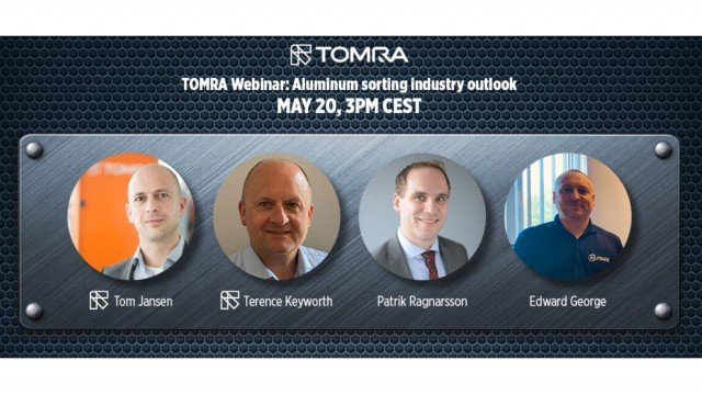 TOMRA Recycling's global metals webinar to anticipate future trends in aluminum recycling